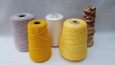 Knitting cones of yarn assorted thicknesses 1796g