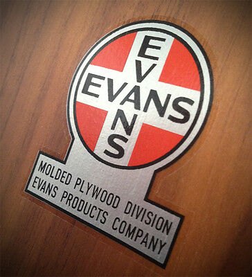 EVANS PRODUCTS COMPANY LABEL - for Charles Eames Herman Miller LCW LCM CTM