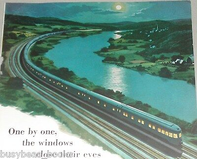 1953 New York Central advertisment, NYC, Water Level Route moon-lit Mohawk river