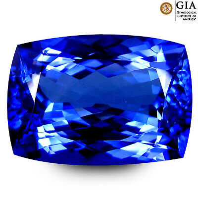 6.97 ct GIA CERTIFIED AAAA+ PRETTY CUSHION CUT (14 X 10 MM) D'BLOCK TANZANITE