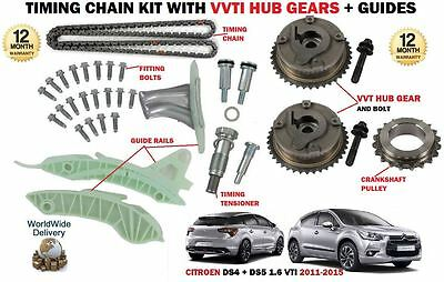 For Citroen Ds4 Ds5 1.6 Vti Thp 120 200 2011-> Timing Chain Kit + Vvt Hub Gear