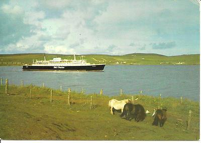 P & O STEAMER St Clair Leaving LERWICK Isle of Bressay Sunburgh Kirkwall Boddam