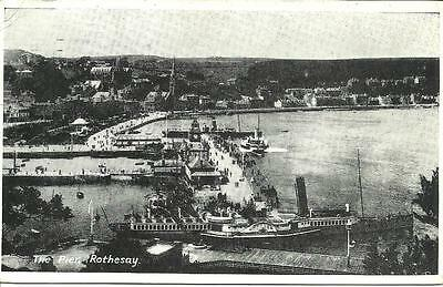 """CLYDE STEAMER PS """"Neptune"""" Berthed ROTHESAY PIER Kilchatten Bay Port Banatyne"""