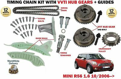 For Bmw Mini 1.6 Cooper R56 N12 B16A 120Bhp 2006-  Timing Chain Kit + Vvt Gear