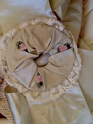 Antique Ribbon Silk Sash Trim Salvage Costume Millinery Hat French Dolls Hats #A