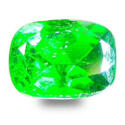 1.69 ct  Good-looking Cushion Shape (8 x 6 mm) Green Chrome Diopside Gemstone