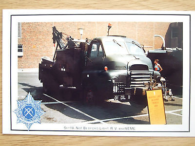 Military Postcard -Bedford Light R.v 4X4 Reme