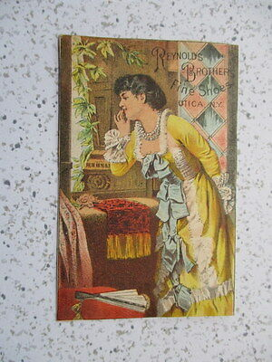 "Antique Trade Card  ""reynolds Brothers Fine Shoes"", Utica, New York"