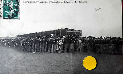 N°3824-Cpa  De Bourges-Aviation-L'aerodrome Du Polygone-Les Tribunes.cher -18-
