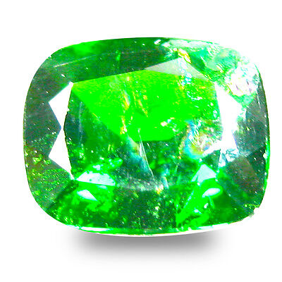 3.36 ct  Incomparable Cushion Shape (10 x 8 mm) Green Chrome Diopside Gemstone
