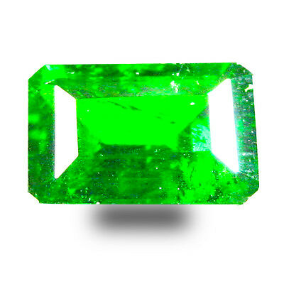 1.12 ct  Super-Excellent Cushion Shape (7 x 5 mm) Green Chrome Diopside Gemstone