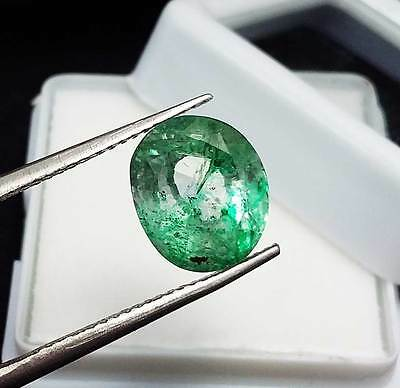 Ebay 3.65 Ct Certified Natural Colombia Emerald Oval Shape Gemstone