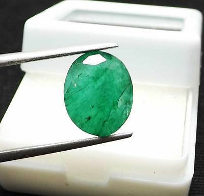 Certified Natural Emerald 3.70 Ct Colombian Oval Shape Gemstone