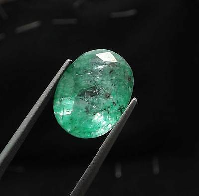 6.00  Ct Certified Natural Mozo Colombia Emerald Oval Shape Gemstone