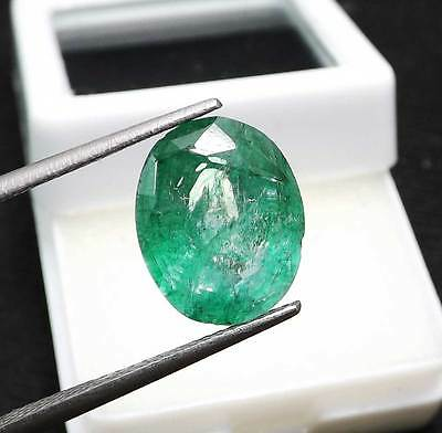 Certified Natural Emerald 4.00  Ct Colombian Oval Shape Gemstone