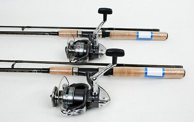 2 Shimano Sienna 4000 Spin Fishing Reels, 6.5ft MH Rods NEW