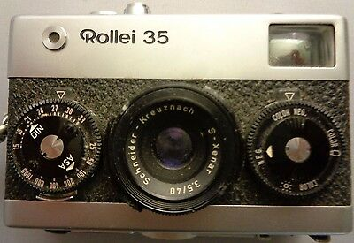 VINTAGE Rollei 35 Compact Film Camera with 40 mm lens  with Strap