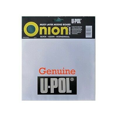 U-Pol Onion Board Body Filler Mixing 100 Sheet