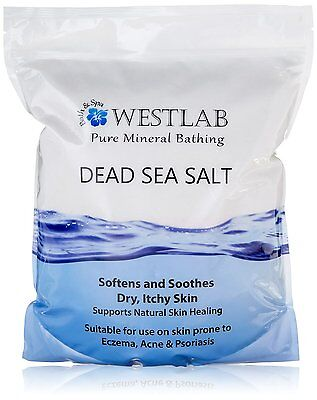 Westlab Dead Sea Salt 5 kg Soothes Dry Skin Stand Up Resealable Pouch ORIGINAL