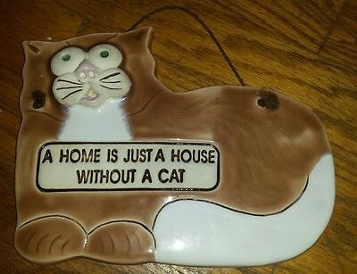 "SMOKY MOUNTAIN POTTERY 1994 ""A Home is Just a House Without a Cat"""