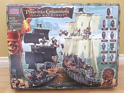 Mega Bloks Pirates of the Caribbean 1035 Siege of the Flying Dutchman SOLD AS IS