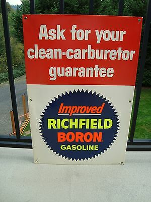 Vintage 50's/60's Richfeild Boron Gasoline Cardboard Display Sign