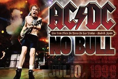 """AC/DC - NO BULL MADRID SPAIN 1996 BALLBREAKER Tour Poster 24"""" X 36"""" Angus Young"""