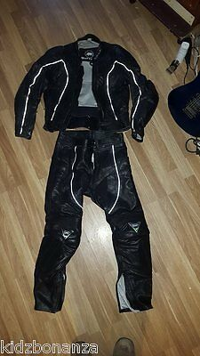 Buffalo ladies size 12  Two 2 Piece Motorcycle Leather Suit