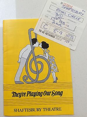 They're Playing Our Song ~ Theatre Programme & Ticket ~ 1982 ~ Martin Shaw