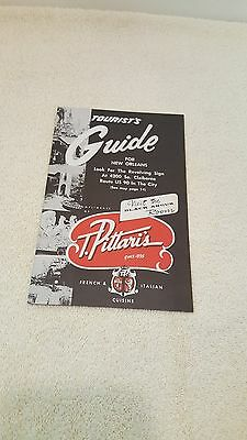Vintage Tourist's Guide for New Orleans T Pittari's