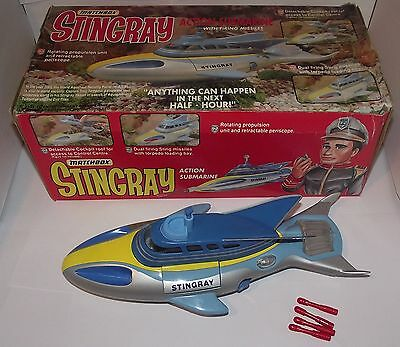 Matchbox Stingray Action Submarine With Firing Missiles In Original Box