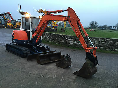 * Kubota U50 * Yr07  5 Ton Rubber Tracks 3Xbuckets Jcb Q-Hitch Midi Mini Digger