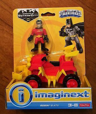 Fisher Price Imaginext Streets of Gotham City DC Super Friends Robin and ATV