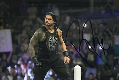 Roman Reigns Signed 12X8 Photo WWE UFC WWF Genuine Signature AFTAL COA (7146)