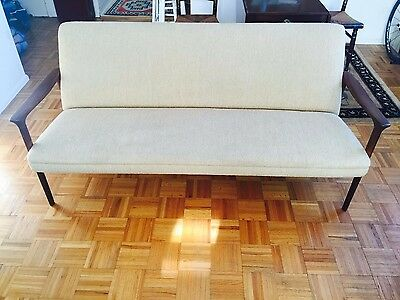 Mid-Century Teak Sofa with Original Fabric