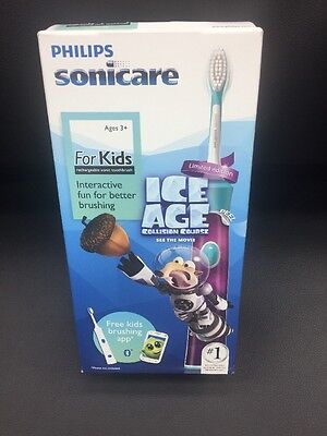 Philips Sonicare For Kids (Ice Age) ~New & Sealed~ HX6321/05~ With Brushing App