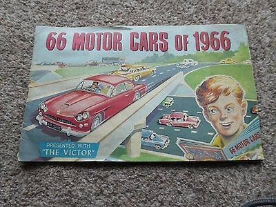 66 Motor cars of 1966 booklet presented withThe Victor comic 1966