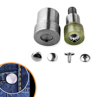 Double Cap Rivets Setting Dies Set for Green Hand Press Machine for DIY Clothes