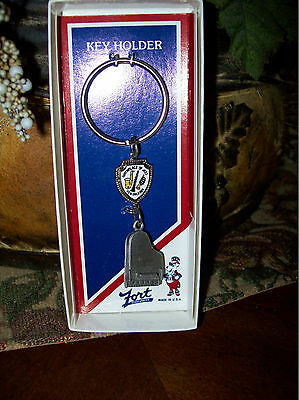 Piano Key Chain New Orleans Fort Pewter with Baby Grand Piano in Original Box