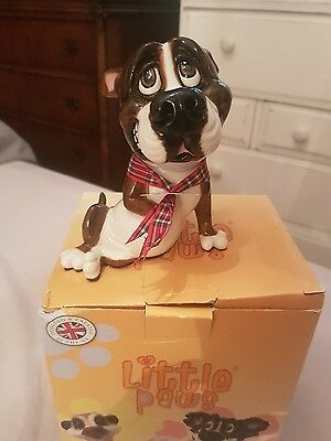 Little Paws Chaz the Staffy Staffordshire Bull Terrier Dog Figurine  NEW  21251