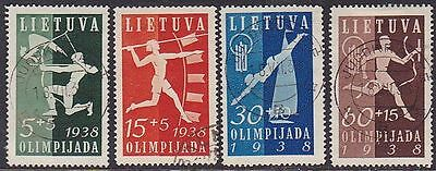 Lithuania 1938 Mi 417-20 Used
