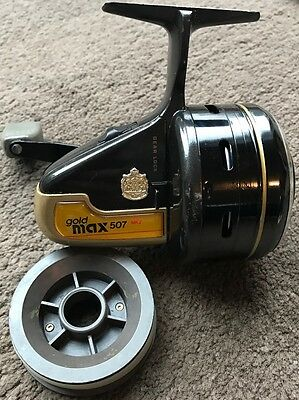 Amazing Vintage Abu Garcia Gold Max 507 MK2 Closed Face Fishing Spinning Reel