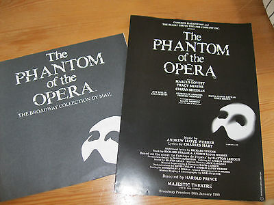theatre programmes The PHANTOM of the OPERA-BROADWAY NEW YORK