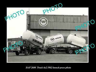 OLD LARGE HISTORIC PHOTO OF 1962 DAF 2600 4x2 TRUCK LAUNCH PRESS PHOTO 2