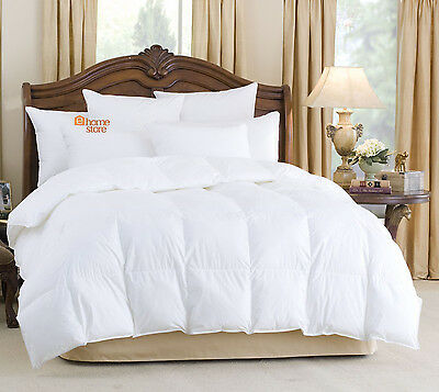 Goose Feather And Down Duvet Quilt, All Sizes Available + 2 Goose Down Pillows