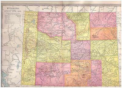 1904 color map Wyoming. 9 by 12