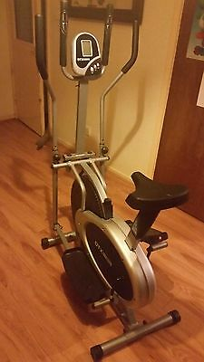 DTX Fitness Pro 2 in 1 Elliptical Cross Trainer Exercise Bike Workout/Gym/Cardio