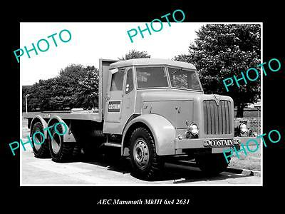 OLD LARGE HISTORIC PHOTO OF 1960 AEC MAMMOTH Mk II TRUCK LAUNCH PRESS PHOTO