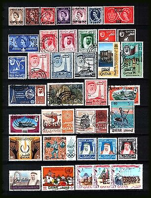 QATAR 1957-69 : Valuable selection - used, MNH, MH - difficult to find.