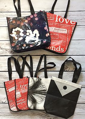 Lot of 6 LULULEMON Small & Large Reusable Tote Bags Lunch Gym Store Shopping Bag